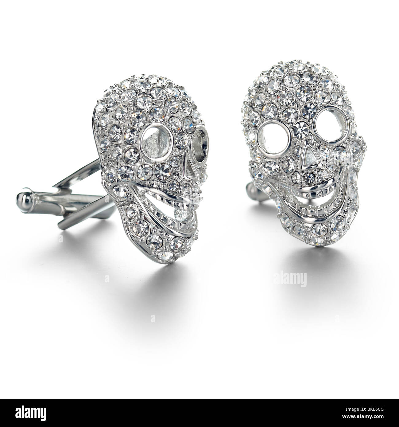 Skull cuff links - Stock Image
