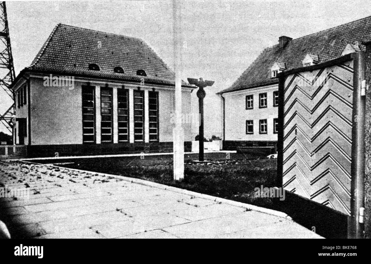 geography / travel, Germany, Eastern districts, Gleiwitz, Silesia, Reich radio station, circa 1940, Additional-Rights - Stock Image