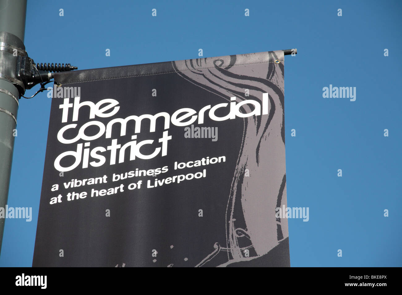 Liverpool's commercial district sign - Stock Image