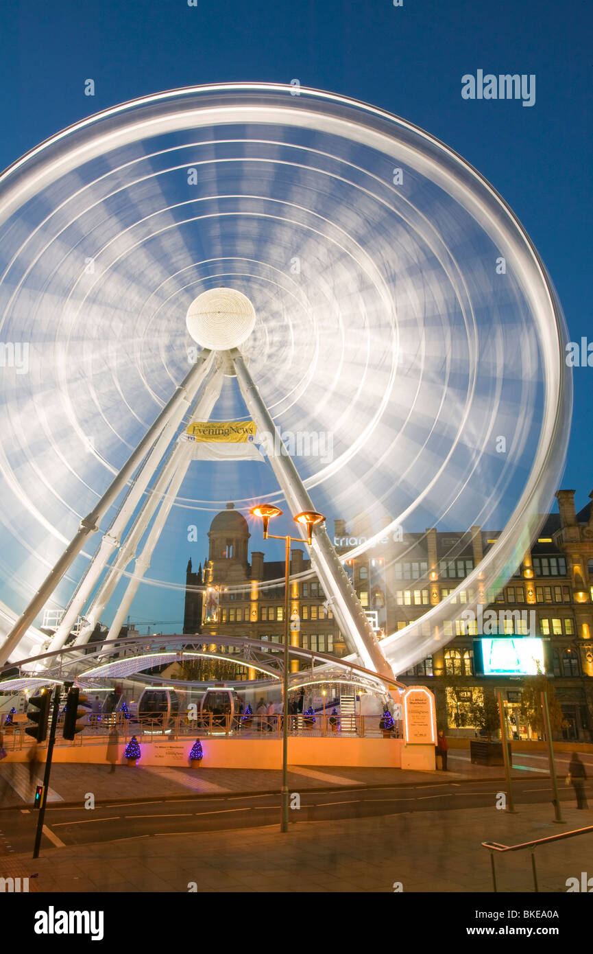 A Ferris Wheel in Manchester city centre UK - Stock Image
