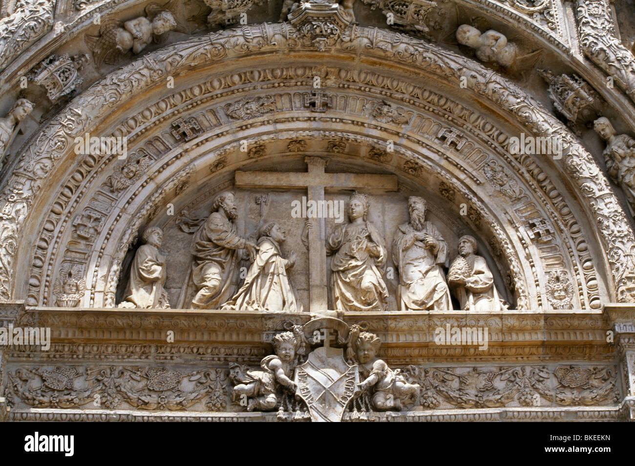 Museo De Santa Cruz.Toledo Spain Museo De Santa Cruz Carving Above Entrance With Cross