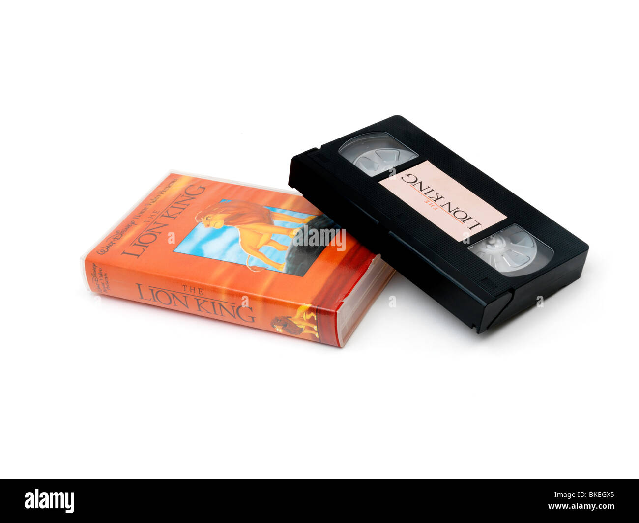 Video Cassette And Plastic Case Of The Lion King - Stock Image