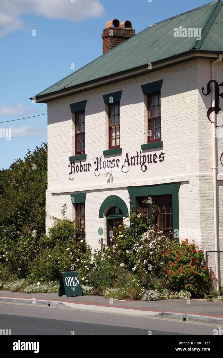 Robur House Antiques, Main Road, Perth, Midland Highway, Tasmania, Australia - Stock Image