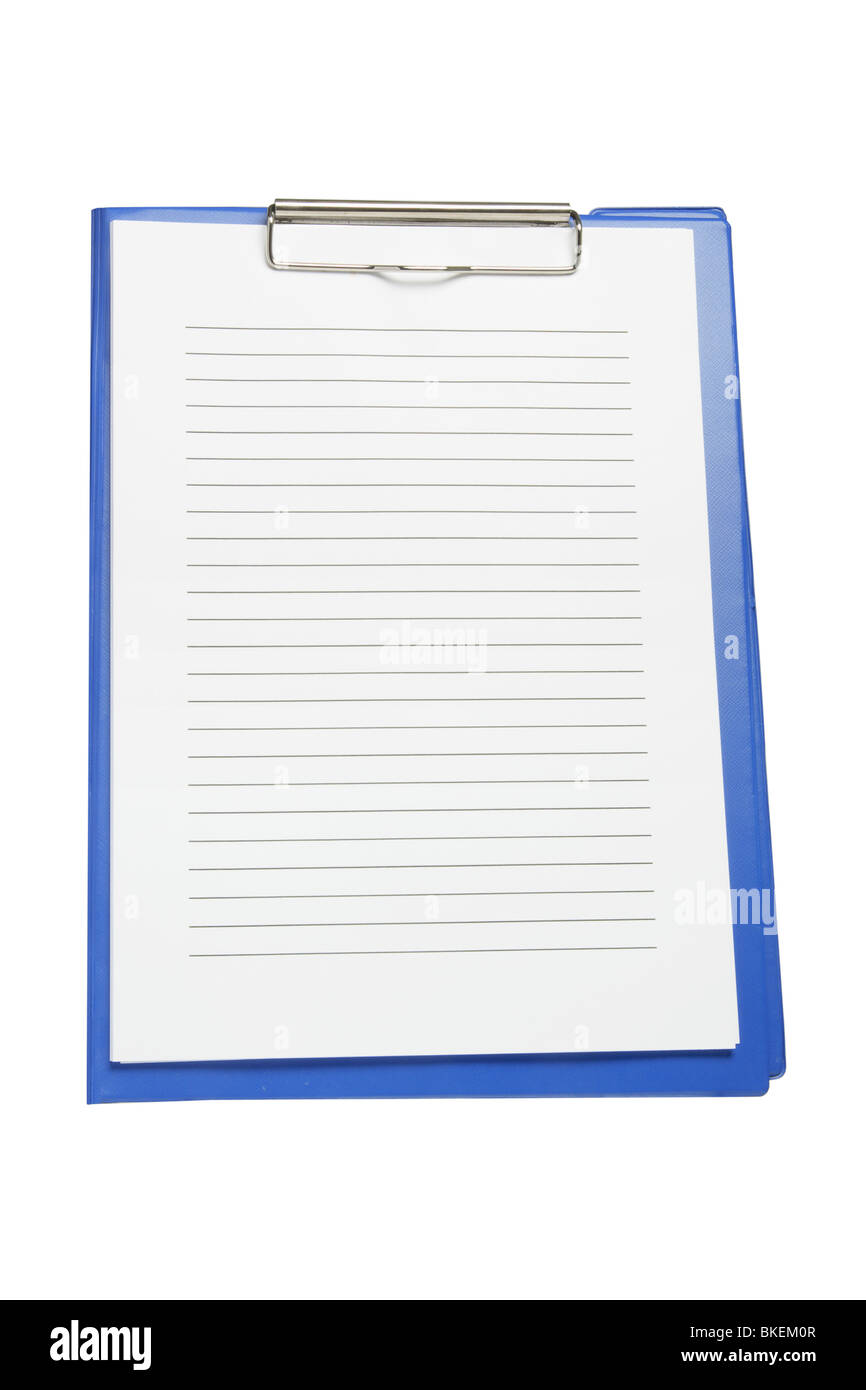 Clipboard with Papers - Stock Image