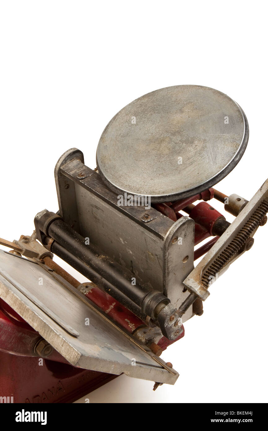 outdated technology Adana High Speed model 2 HS2 manual printing press - Stock Image