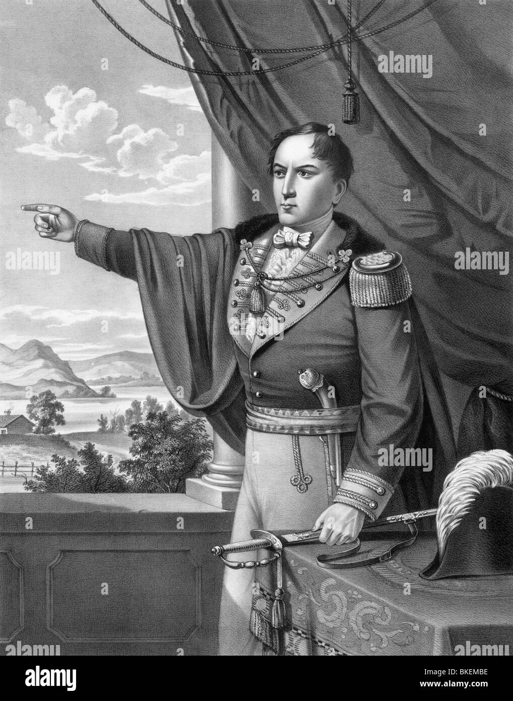 Vintage portrait print of Irish nationalist rebel leader Robert Emmet (1778 - 1803) entitled 'The Martyr of - Stock Image