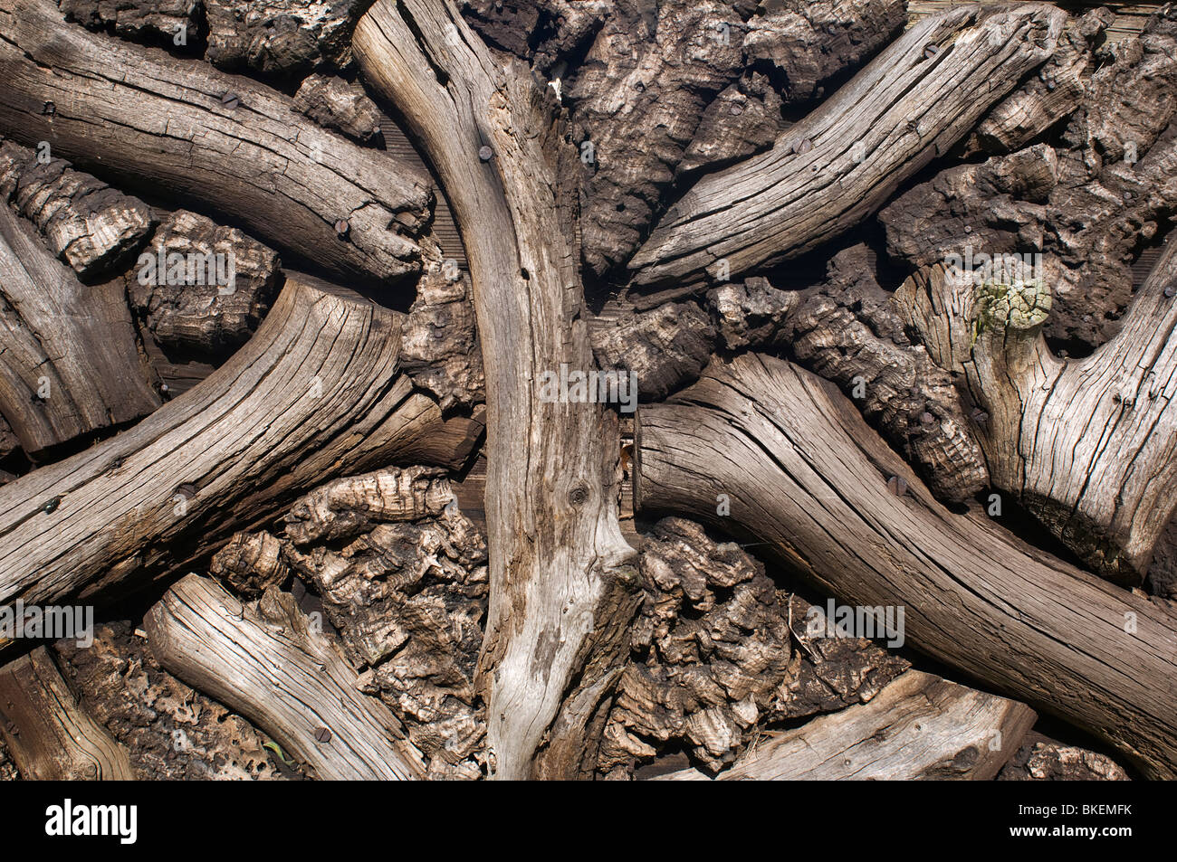 Wooden Pattern - John Gollop Stock Photo