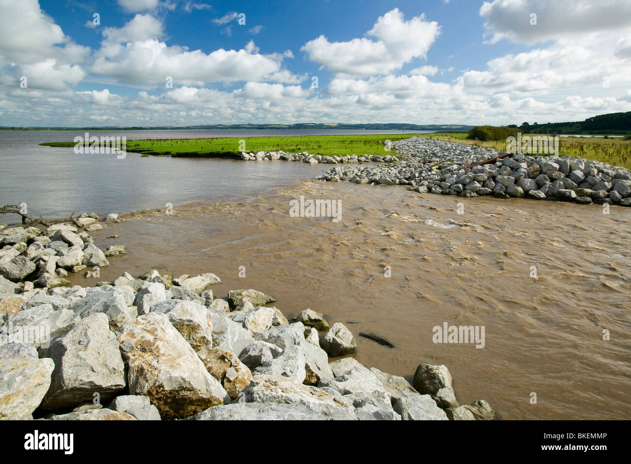 The Breach at Alkborough on the Humber Estuary in Eastern England, the UK's largest example of managed retreat. - Stock Image