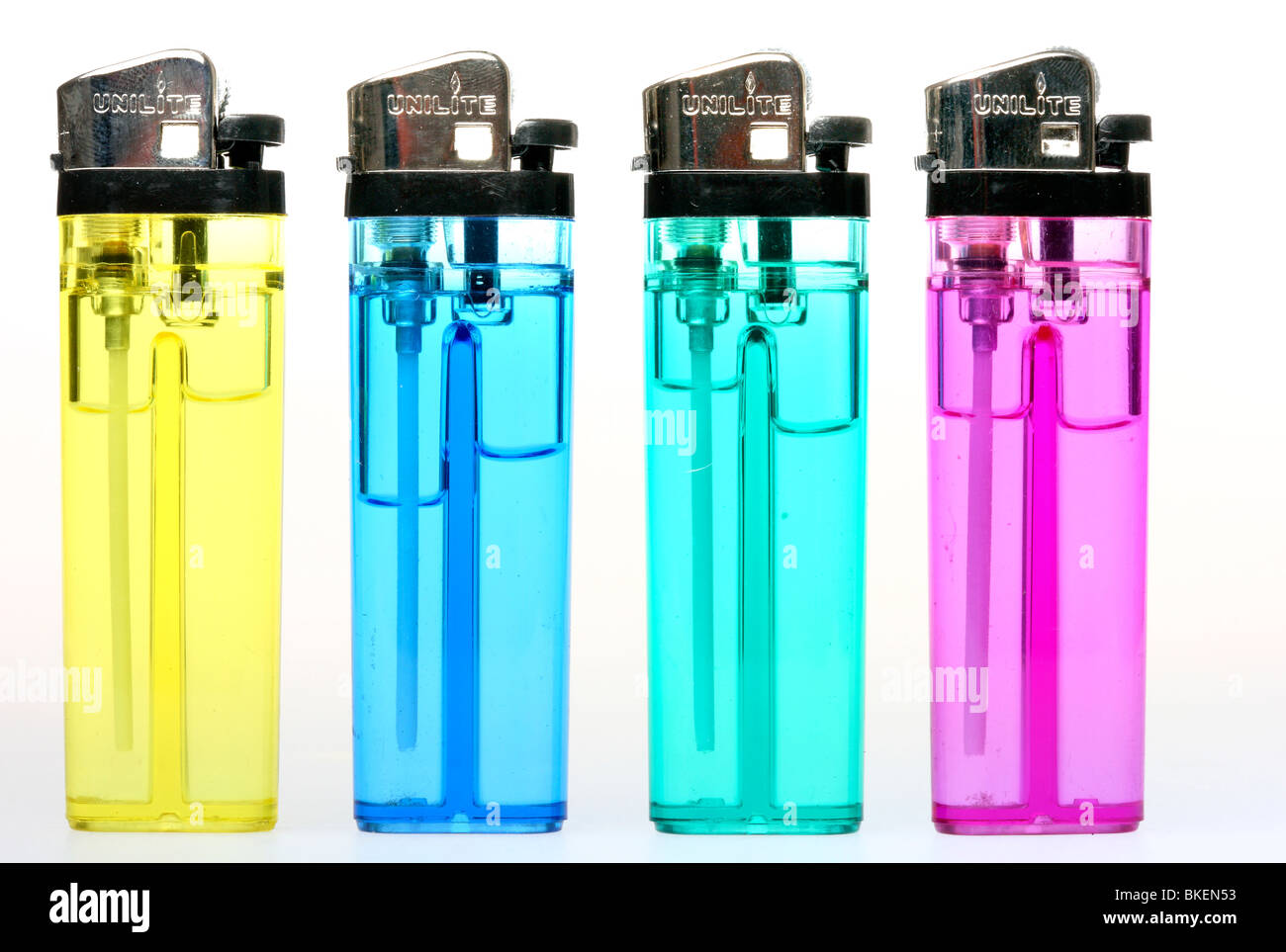 colorful lighter with liquids. Germany, Europe. - Stock Image