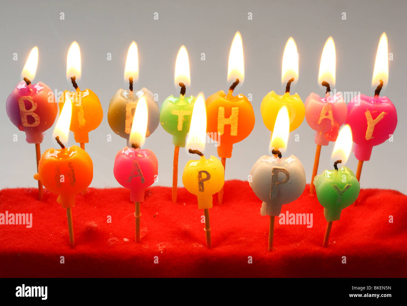 Birthday Candles With Print Happy Decoration Germany Europe