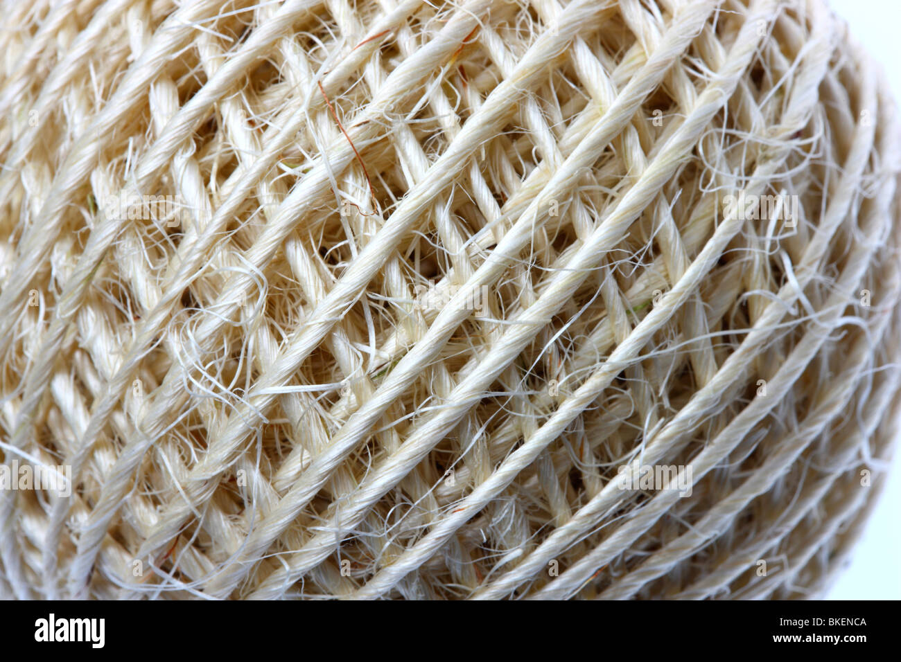 package cord, coiled to a role. - Stock Image