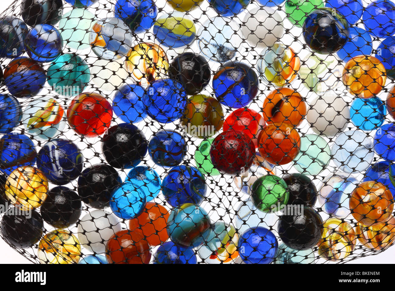 glass marbles, colorful - Stock Image