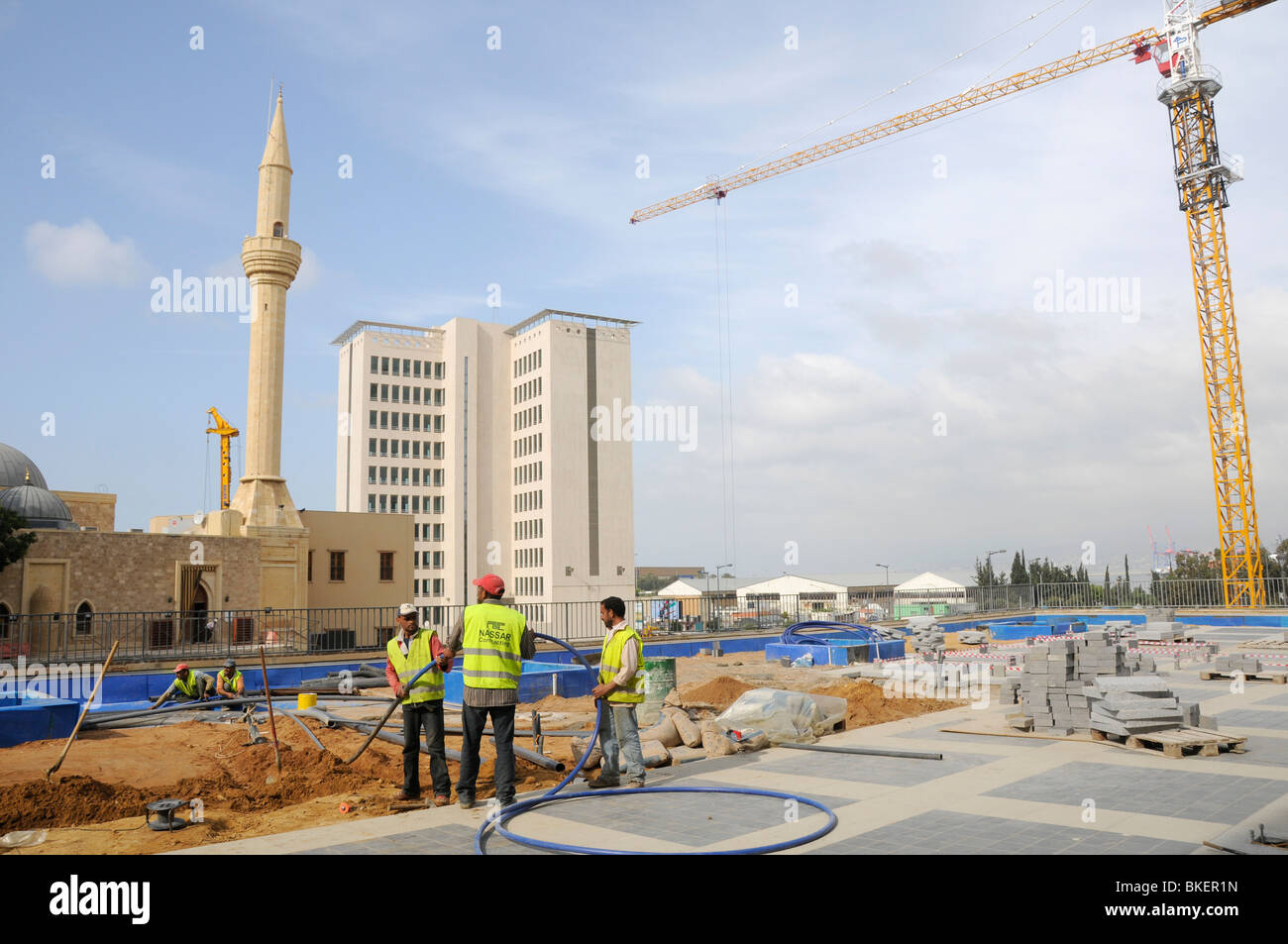 LEBANON. RECONSTRUCTION OF DOWNTOWN BEIRUT BY SOLIDERE CONSORTIUM SET UP BY LATE RAFIK HARIRI - Stock Image