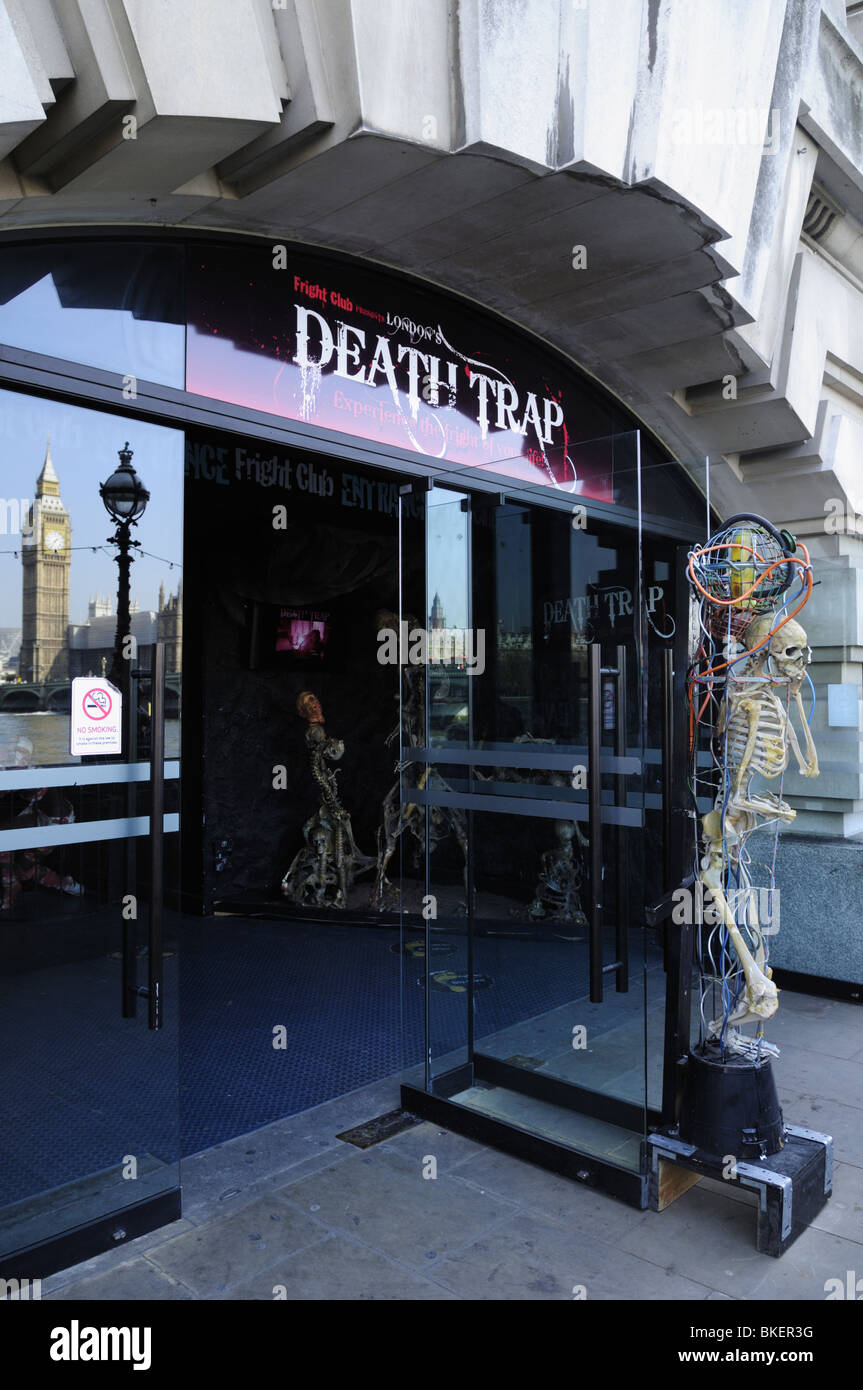 Death Trap Fright Club on the South Bank, London, England, UK - Stock Image