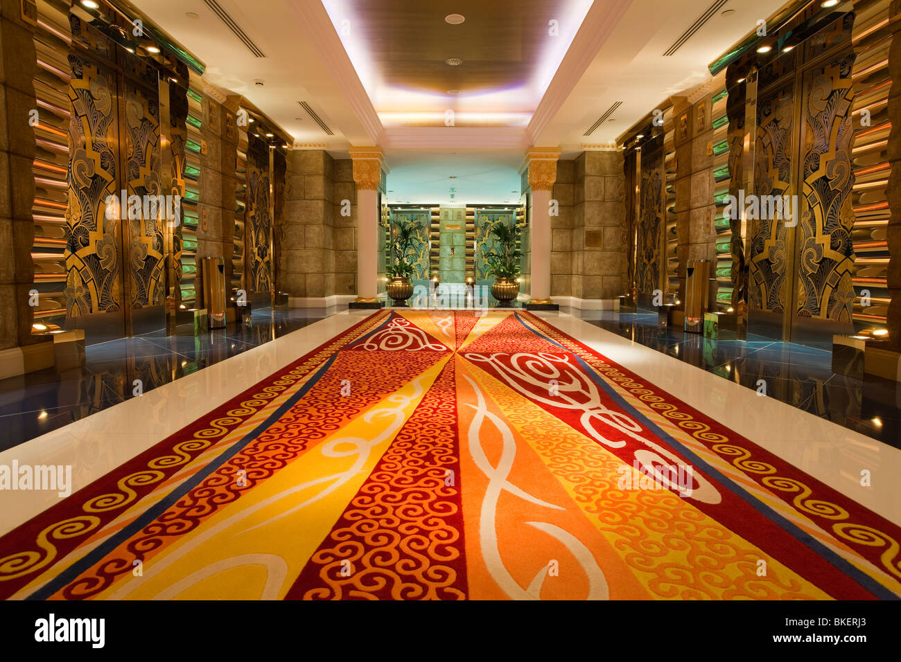 Burj Al Arab Hotel, Dubai, UAE, United Arab Emirates - Stock Image