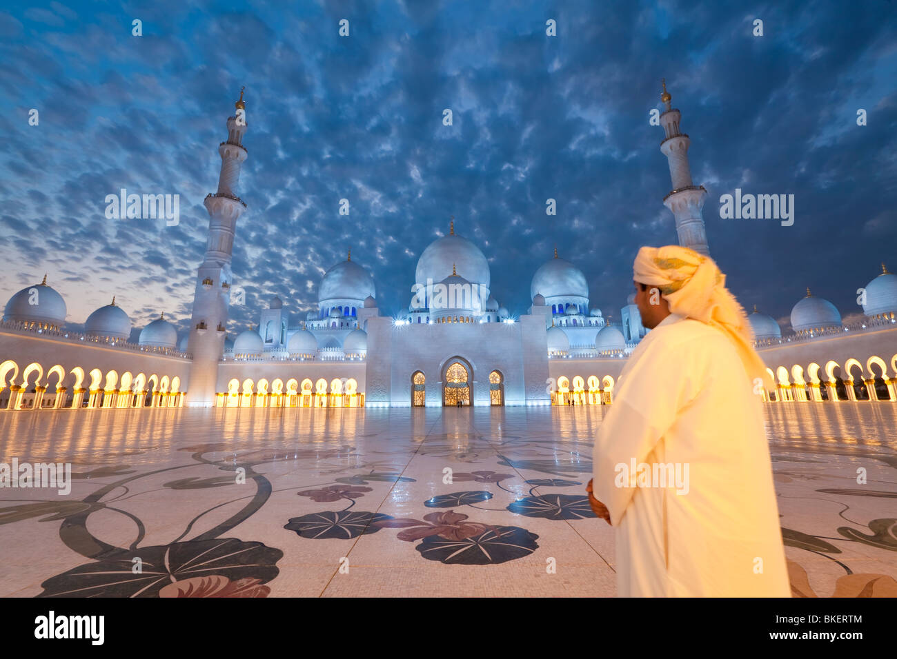 Sheikh Zayed Bin Sultan Al Nahyan Mosque, Abu Dhabi, United Arab Emirates, UAE - M.R Stock Photo