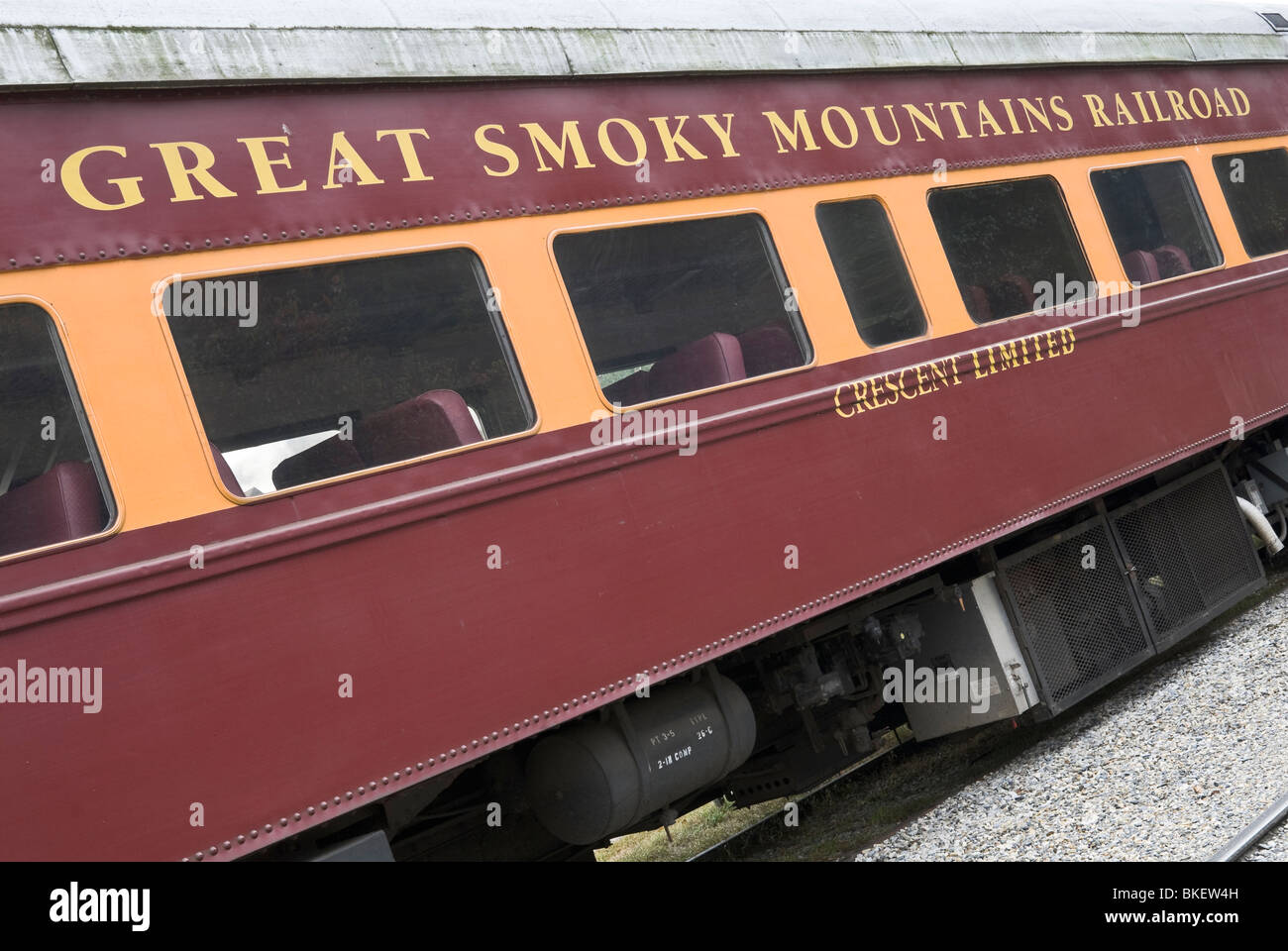 The Great Smoky Mountains Railroad, based in Bryson City, North Carolina, USA - Stock Image