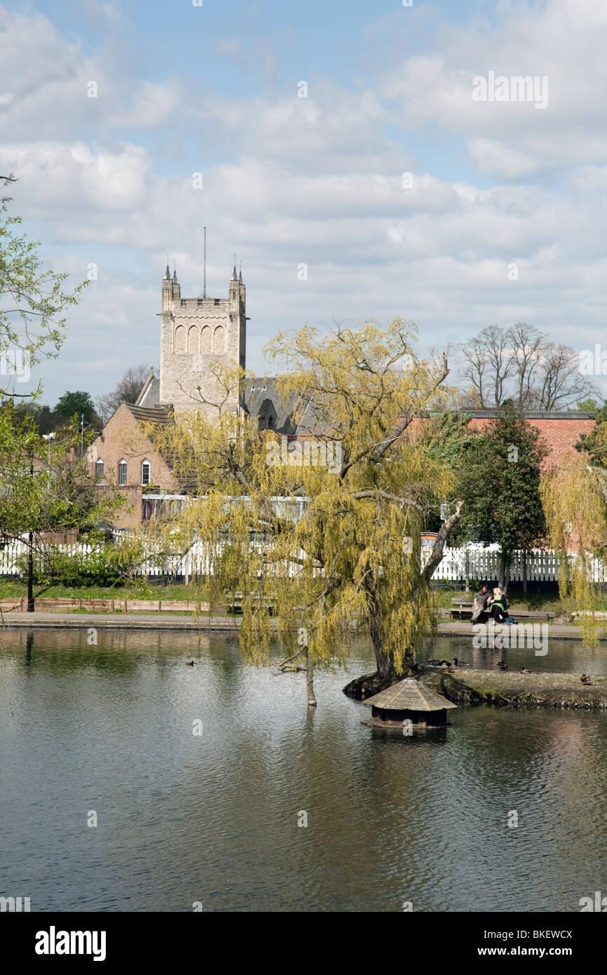 Chislehurst ponds and common, Kent , UK - Stock Image