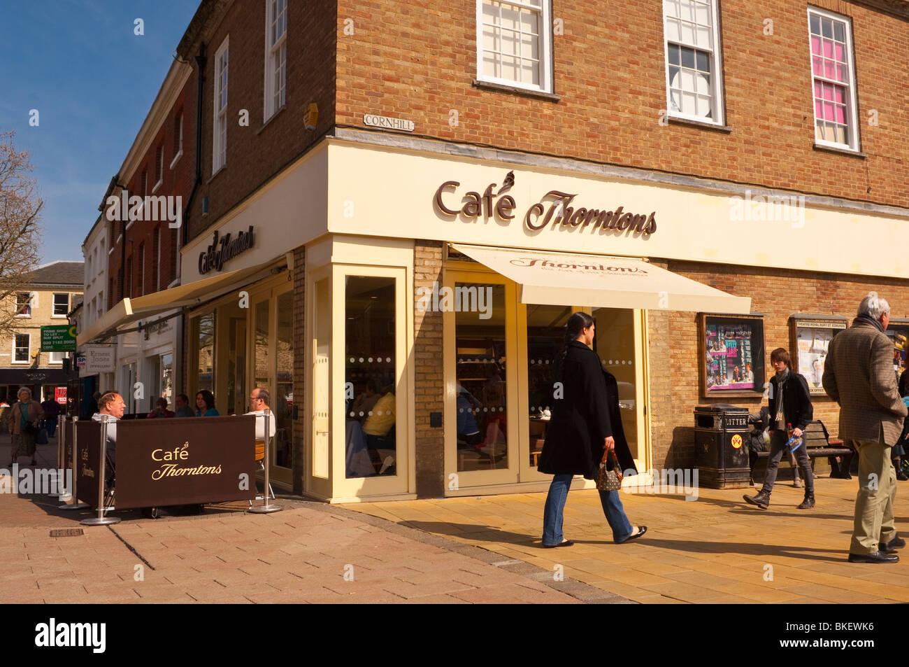 Cafe Thorntons in Bury Saint Edmunds , Suffolk , England , Great Britain , UK - Stock Image