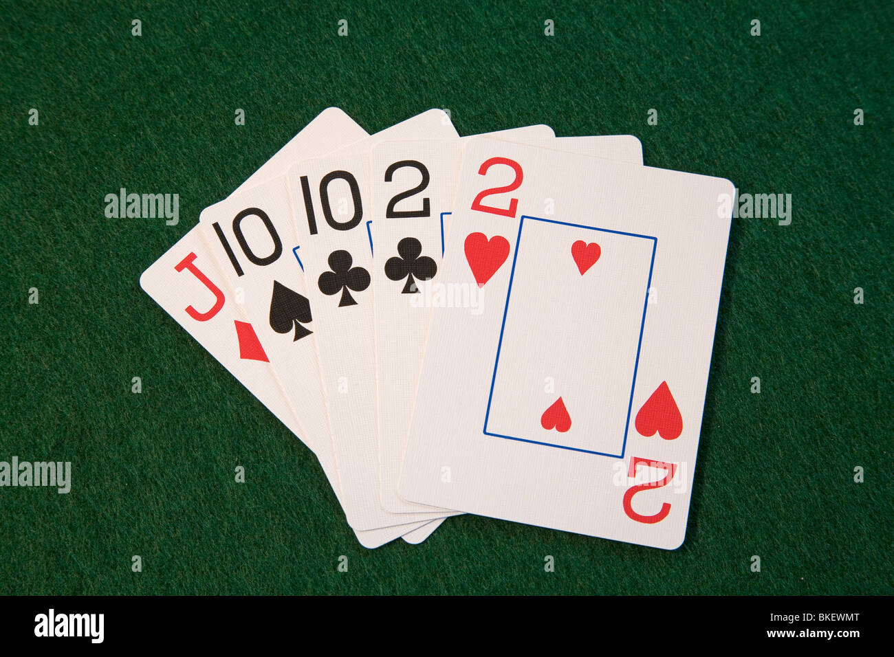 Two Pair Tens And Deuces A Hand In Five Card Draw Or Stud