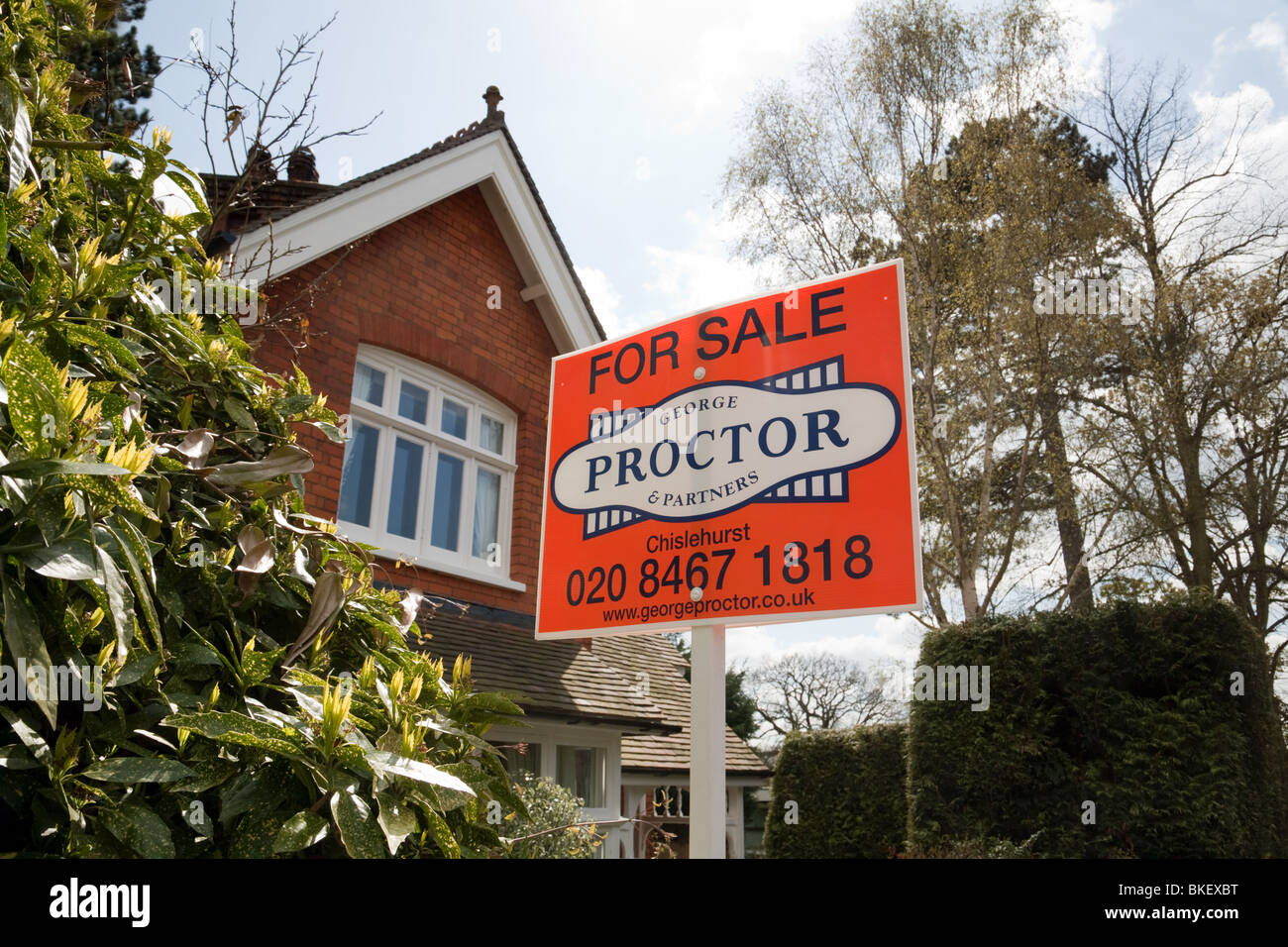 House for sale, by Estate Agents George Proctor, South East London, UK - Stock Image