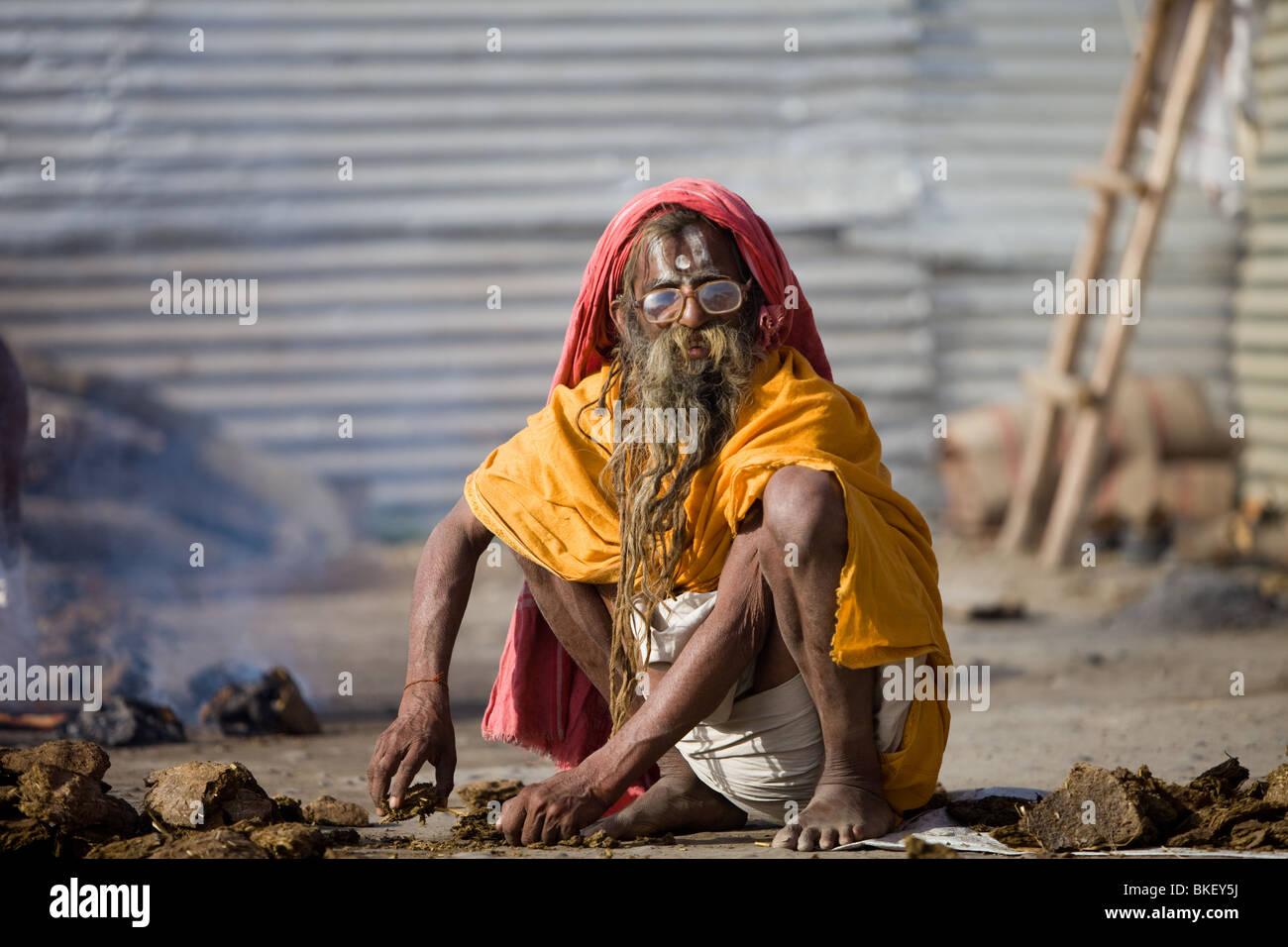 Sadhu at the Kumbh Mela - Stock Image