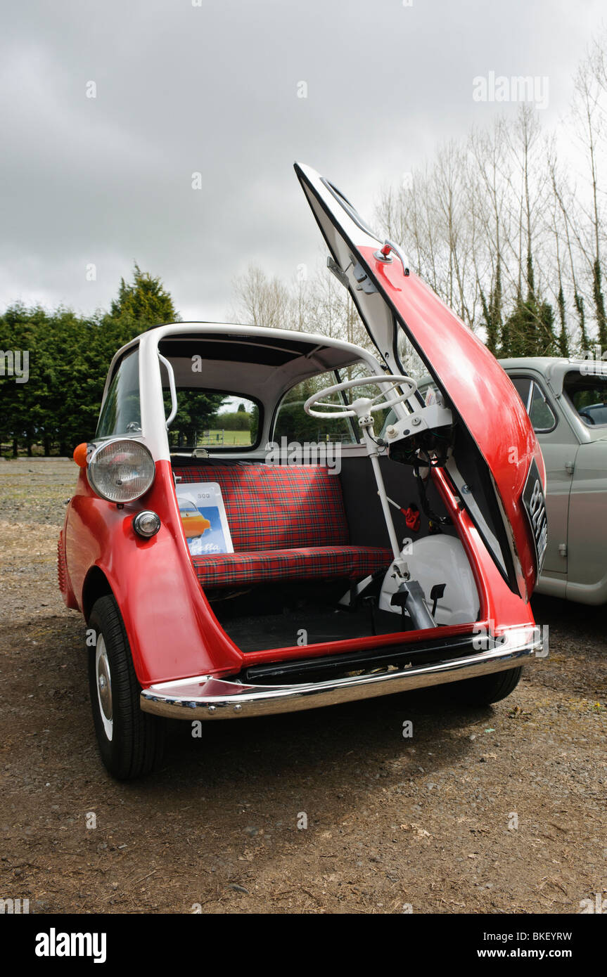 Bmw Isetta Bubble Car With The Front Door Open Stock Photo 29217997