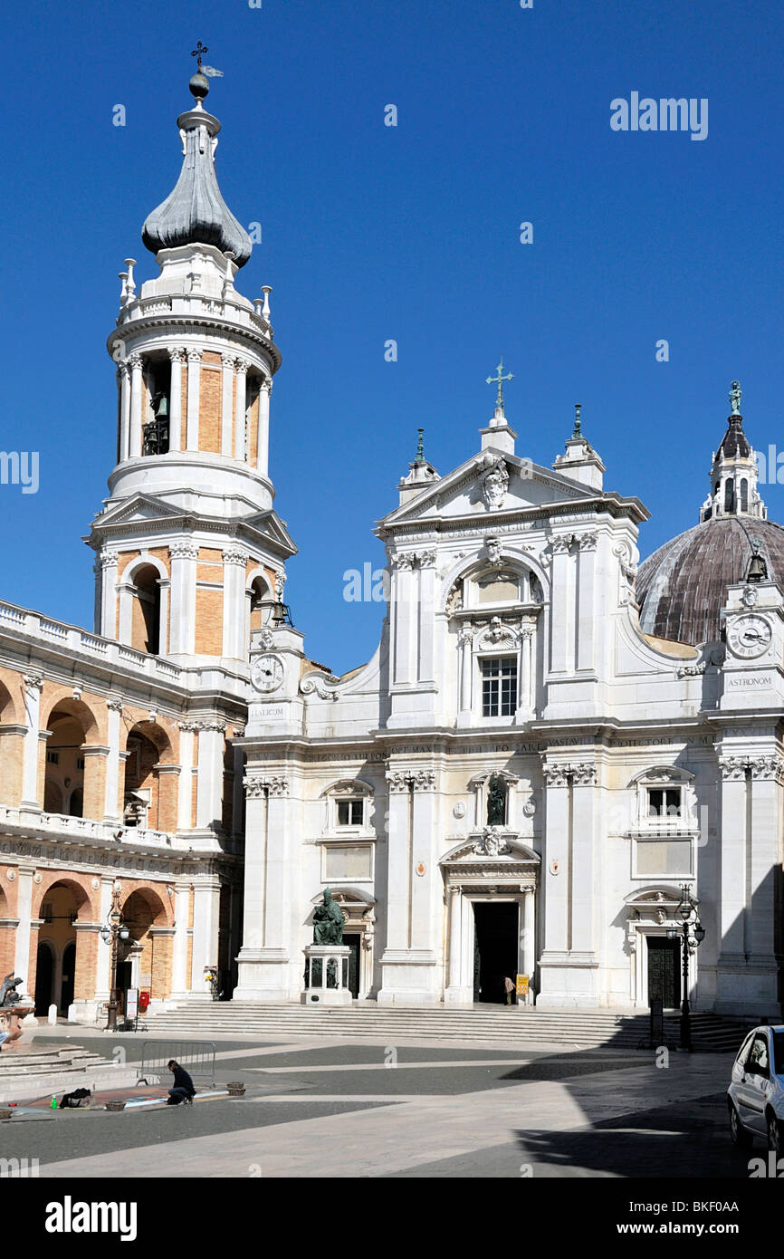 Loreto basilica - Stock Image