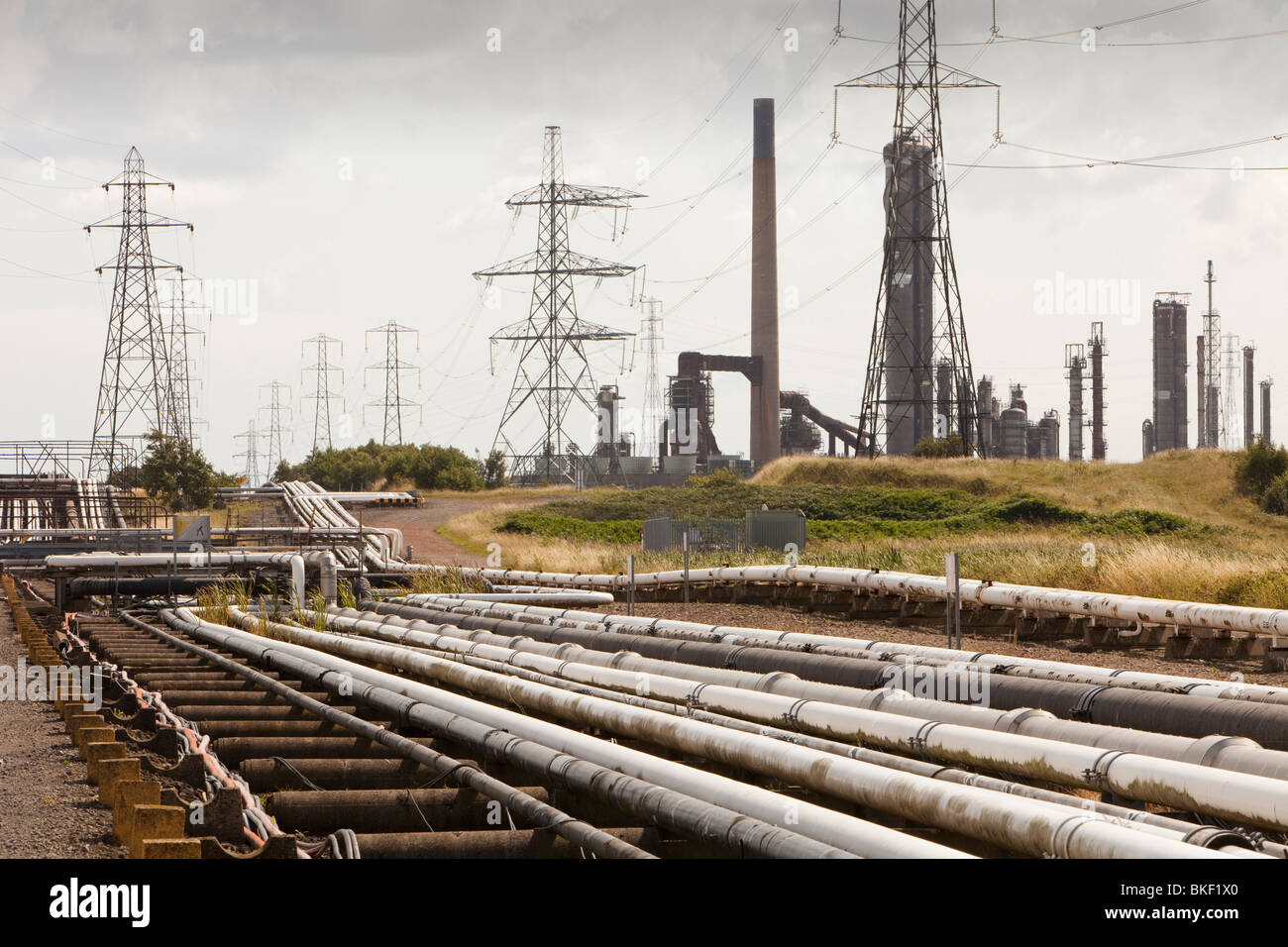 Heavy industry on Teeside, North East, UK. - Stock Image