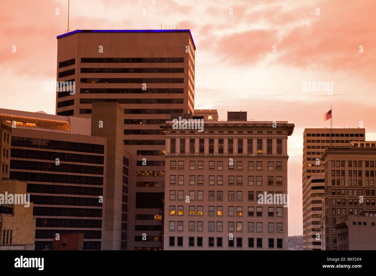 Architecture of Cincinnati, Ohio Stock Photo