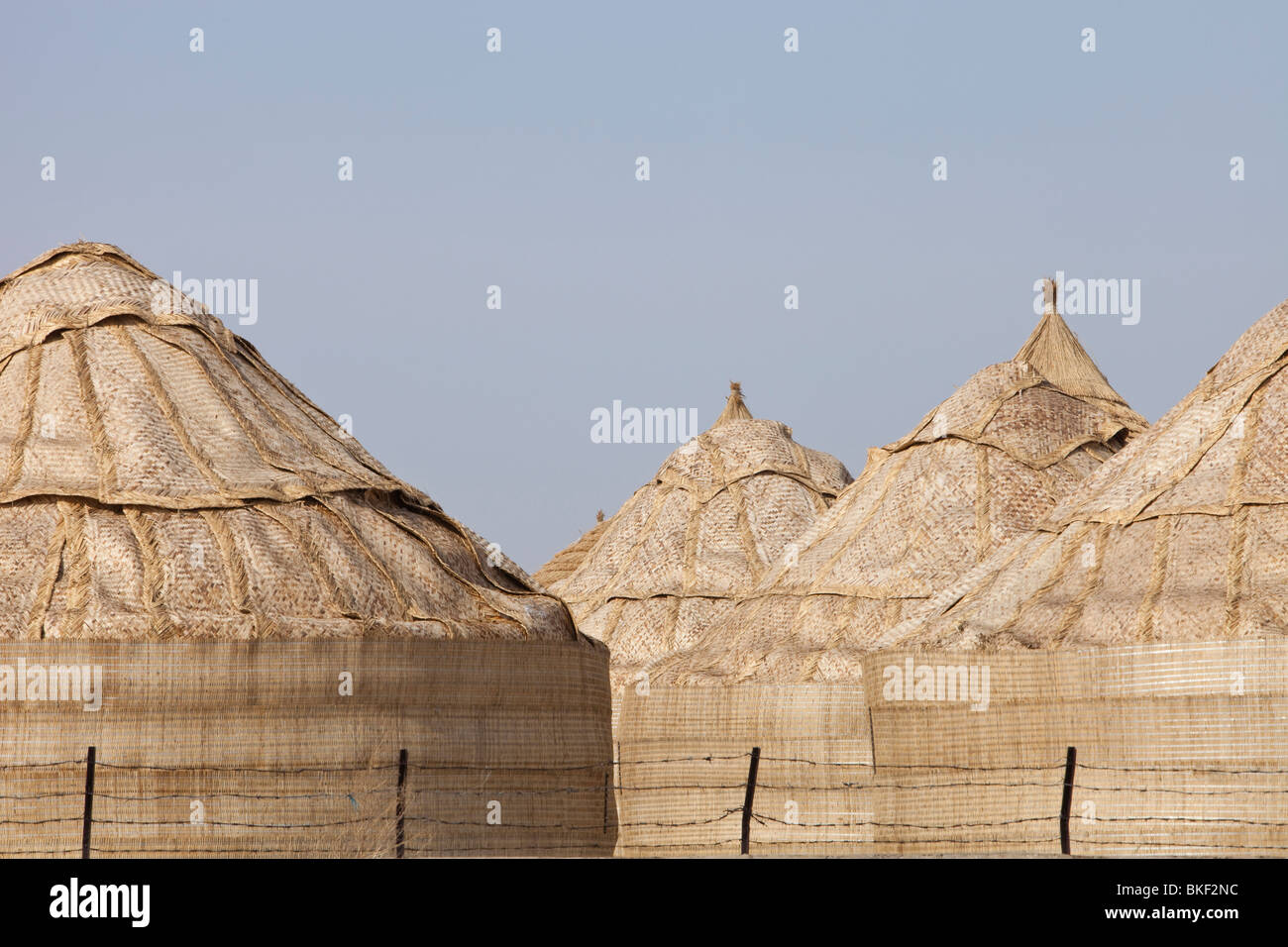 Food storage depots in Heilongjiang Province, northern China - Stock Image