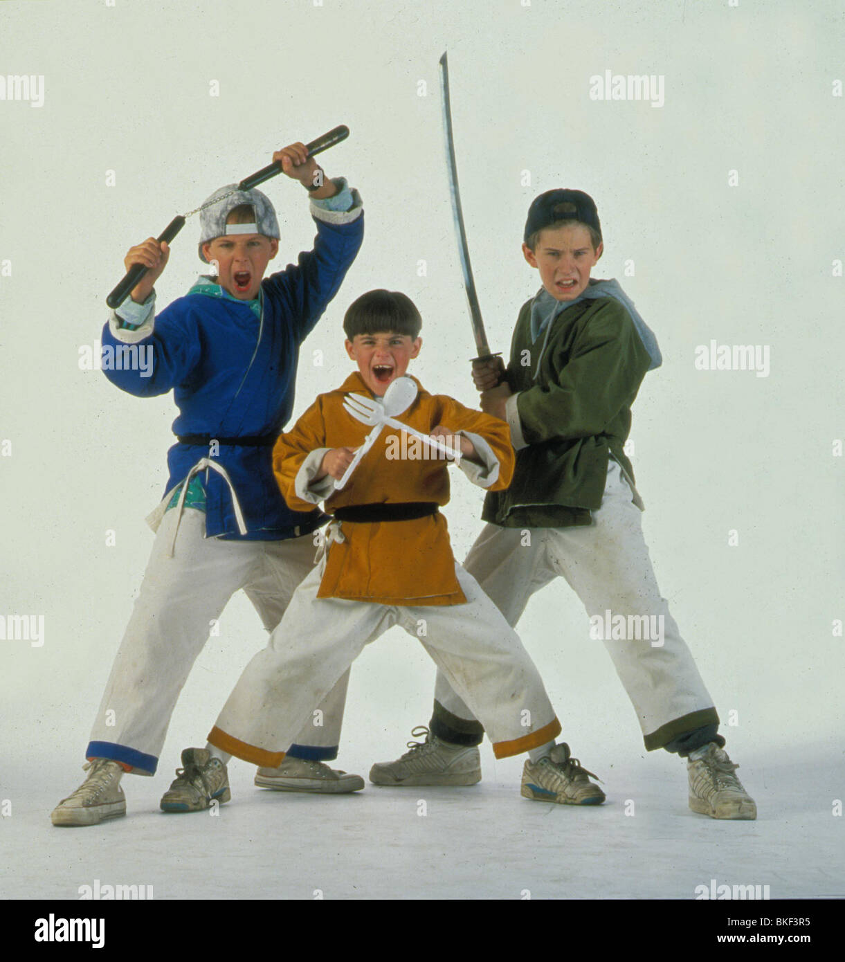 THREE NINJAS (1993) MICHAEL TREANOR, CHAD POWER, MAX ELLIOTT SLADE TNJA 001 - Stock Image