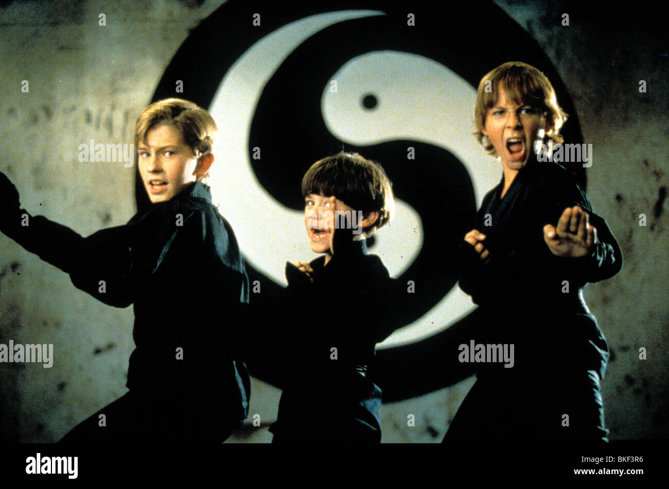 THREE NINJAS (1993) MICHAEL TREANOR, CHAD POWER, MAX ELLIOTT SLADE TNJA 002 - Stock Image