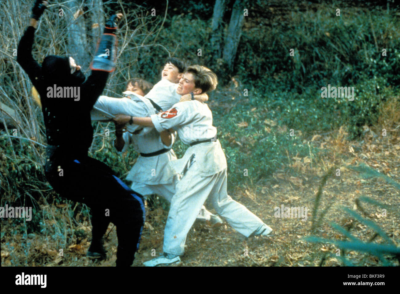 THREE NINJAS (1993) MAX ELLIOTT SLADE, CHAD POWER, MICHAEL TREANOR TNJA 003 - Stock Image