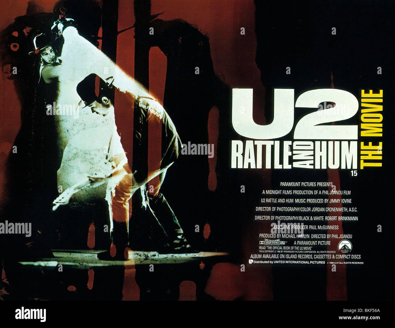 U2 : RATTLE AND HUM (1988) BONO, THE EDGE POSTER U2R 006 - Stock Image