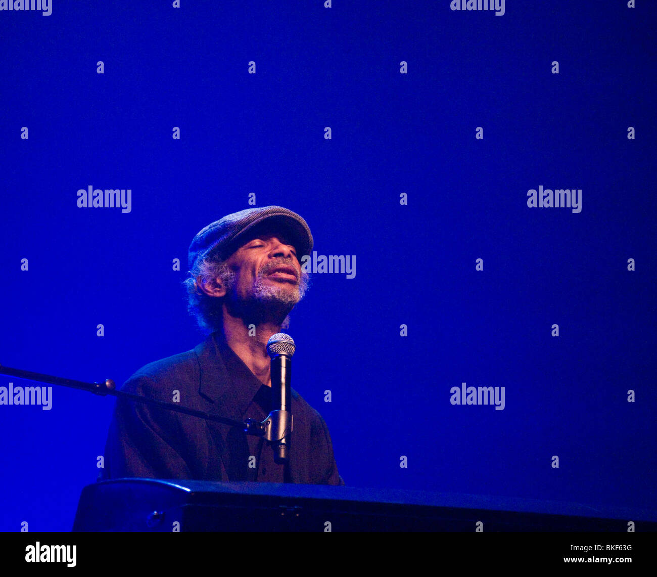 Gil Scott-Heron at The Royal Festival Hall in London - Stock Image
