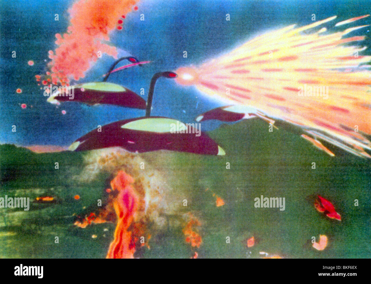 THE WAR OF THE WORLDS -1953 - Stock Image