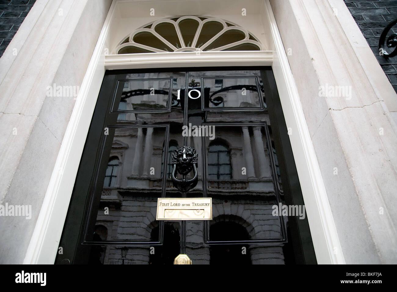 No 10 Downing street UK - Stock Image