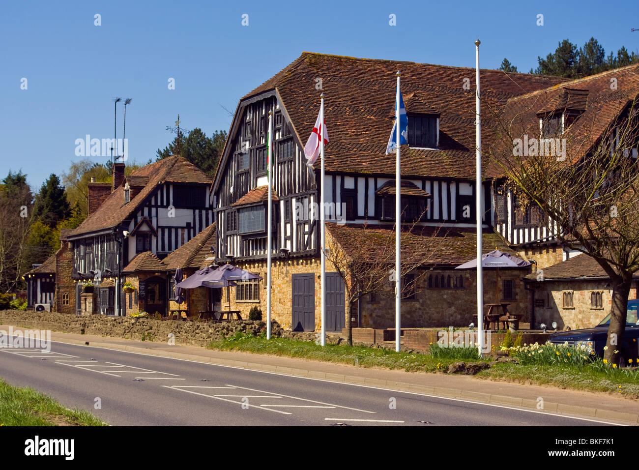The Grasshopper Inn Moorhouse Near Westerham Kent - Stock Image