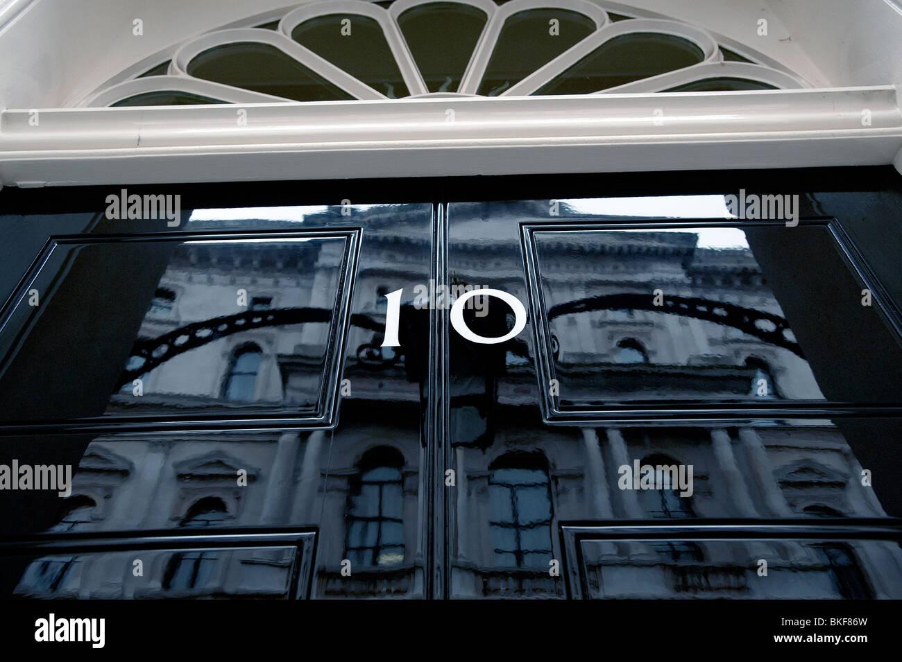 Number 10 Downing street front door - Stock Image