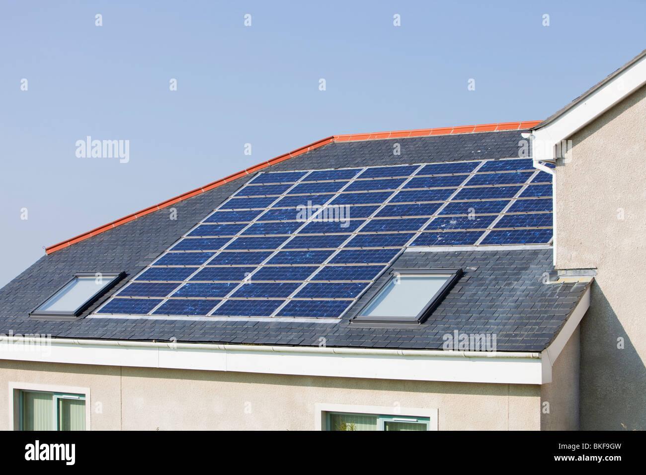 Solar Panels Roof School Stock Photos Amp Solar Panels Roof