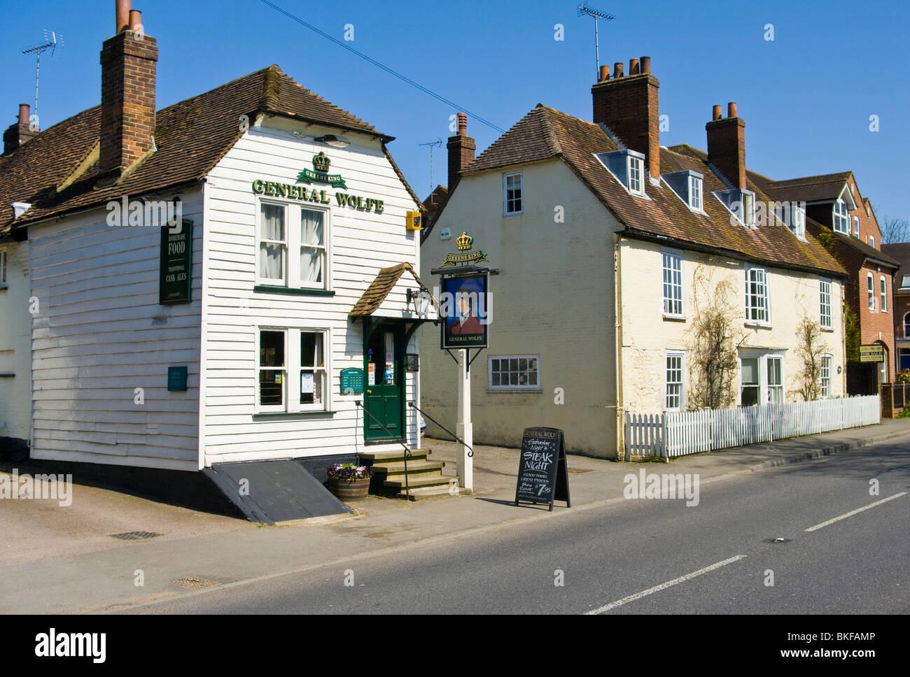 The General Wolfe Public House Westerham Kent England - Stock Image