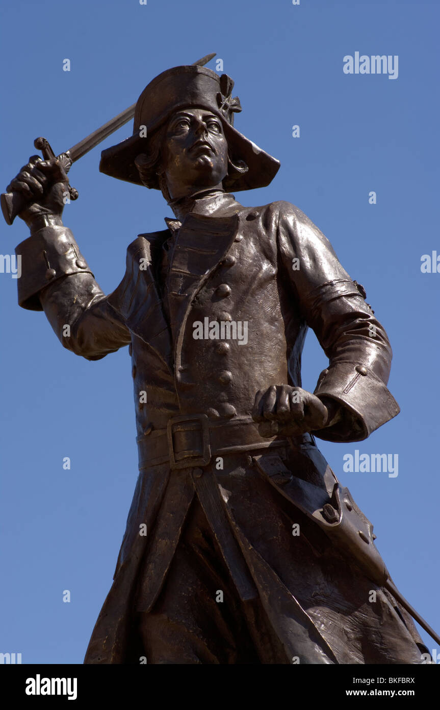 Statue Of General Wolfe Westerham Kent England - Stock Image