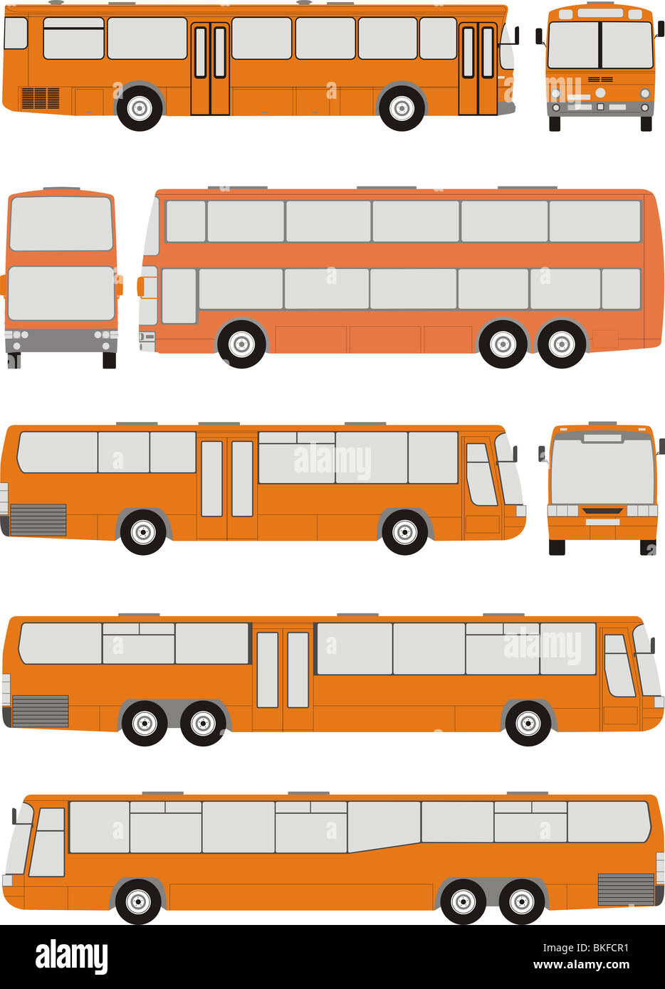 Vehicle Bus shapes - Stock Image