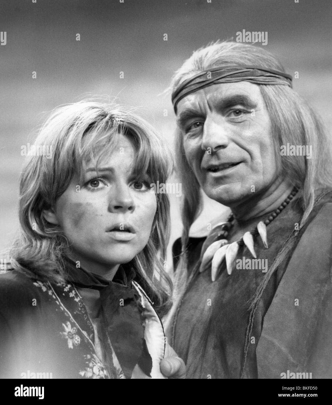 "telecast, ""Polly"", DEU 1975, director: Juergen Flimm, scene with: Cornelia Froboess, Romuald Pekny, tv, broadcast, Stock Photo"