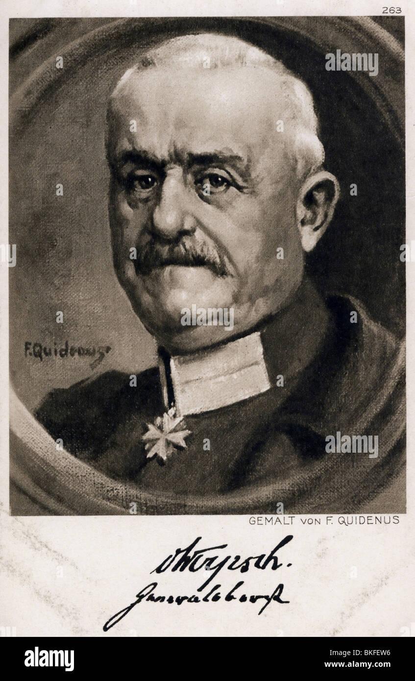 Woyrsch, Remus von, 4.2.1847 - 6.8.1920, German general, portrait, painting by Fritz Quidenius, art postcard, 1916, - Stock Image