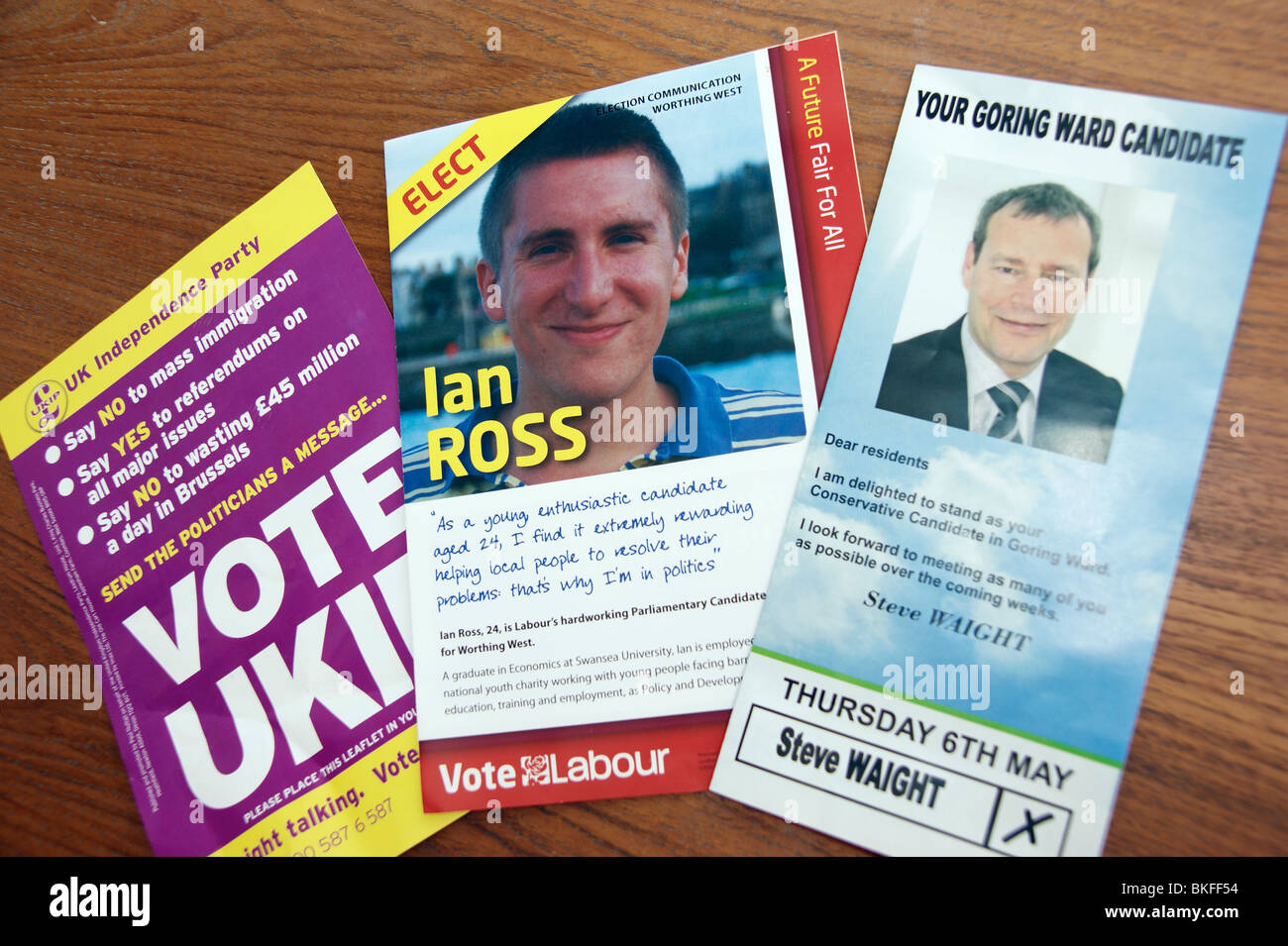 election flyers leaflets from the conservatives labour ukip