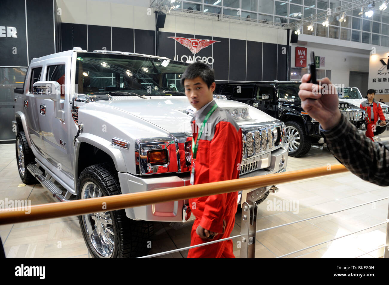 Longbo customized Hummer H2 at the Beiijng Auto Show. 23-Apr-2010 - Stock Image