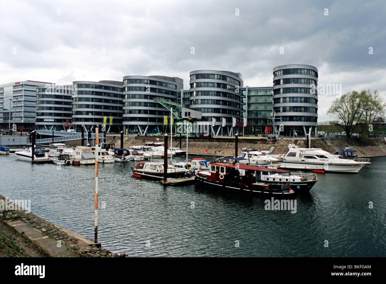 Duisburg Marina (inland harbour) - Stock Image