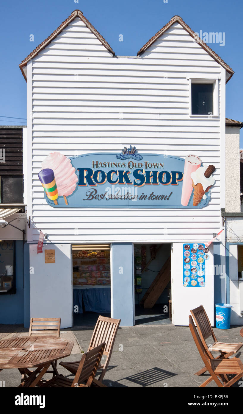 The Rock Shop at The Stade Hastings East Sussex - Stock Image